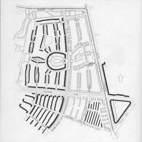 Gerarchia attraverso la forma dell'edificio e dello spazio aperto