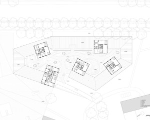 Cluster: le residenza con lo spazio aperto permeabile centrale