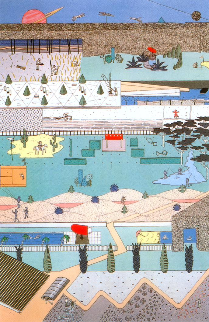 Oma progetto per il parc de la villette 1998 for Progetti di villette